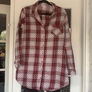 Victoria's Secret Flannel Sleepshirt